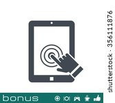 tablet touch screen icon