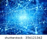 blue glowing connections in... | Shutterstock . vector #356121362