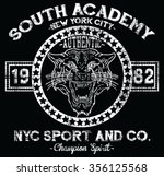 new york city  tiger  sport ... | Shutterstock .eps vector #356125568