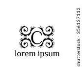 c letter vector logo template ... | Shutterstock .eps vector #356137112