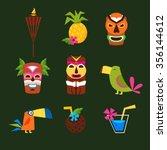 hawaii surf retro posters... | Shutterstock .eps vector #356144612