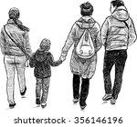 family strolling | Shutterstock .eps vector #356146196