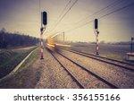 Blurred Train Of Koleje...