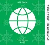 web icon. globe | Shutterstock .eps vector #356164562