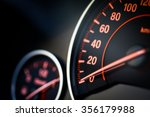 Close Up Shot Of A Speedometer...
