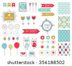 big set of romantic and cute... | Shutterstock .eps vector #356188502