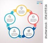 infographic element. flat chart ... | Shutterstock .eps vector #356195516