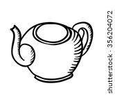 teapot sketch  contour... | Shutterstock . vector #356204072