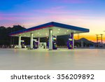 gas station at sunset. | Shutterstock . vector #356209892