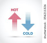 hot and cold arrows | Shutterstock .eps vector #356211326