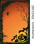 halloween vector illustration... | Shutterstock .eps vector #35621182