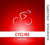 cycling biking white red... | Shutterstock .eps vector #356218892