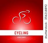 cycling biking white red... | Shutterstock .eps vector #356218892