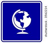 earth globe sign | Shutterstock .eps vector #3562214