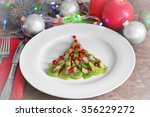 christmas fir tree made from... | Shutterstock . vector #356229272