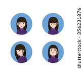 avatar icons with eyes nose and ... | Shutterstock .eps vector #356231876