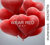 national wear red day. vector... | Shutterstock .eps vector #356240756