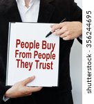 people buy from people they... | Shutterstock . vector #356244695