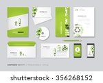 vector corporate identity for... | Shutterstock .eps vector #356268152
