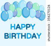 happy birthday card with balloon | Shutterstock .eps vector #356270126