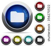 set of round glossy folder...