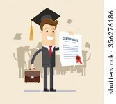 manager or student. a man in a... | Shutterstock .eps vector #356276186