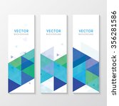 a set of banners with triangles | Shutterstock .eps vector #356281586