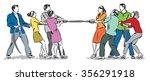 work team group workers... | Shutterstock .eps vector #356291918
