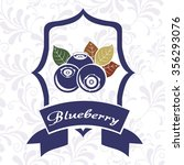 delicious blueberry design ... | Shutterstock .eps vector #356293076