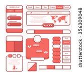 soft style vector flat website...
