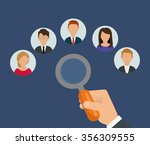 search and find employment... | Shutterstock .eps vector #356309555