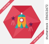 rocket flat icon with long... | Shutterstock .eps vector #356312672