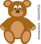 Brown Cartoon Teddy Bear