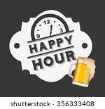 happy hour design  vector... | Shutterstock .eps vector #356333408