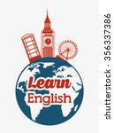 learn english design  vector... | Shutterstock .eps vector #356337386