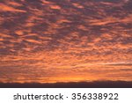 sunset sky covered by fiery... | Shutterstock . vector #356338922