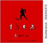 sports poster illustration  ... | Shutterstock .eps vector #356342372