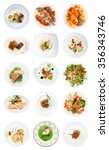 set of various fish dishes... | Shutterstock . vector #356343746
