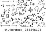 hand drawn doodle seamless... | Shutterstock .eps vector #356346176