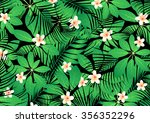 tropical frangipani flowers on... | Shutterstock . vector #356352296