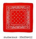 Square Fabric Red Handkerchief...