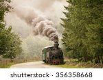 Vintage Old Train In Forest...
