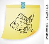 goldfish doodle | Shutterstock .eps vector #356364116