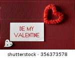 valentine day paper heart shape | Shutterstock . vector #356373578