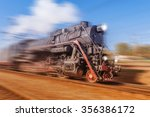 Old Retro Train With Steam...