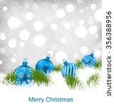 illustration christmas glassy... | Shutterstock . vector #356388956