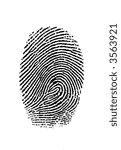 finger print | Shutterstock . vector #3563921