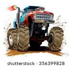 cartoon monster truck.... | Shutterstock .eps vector #356399828