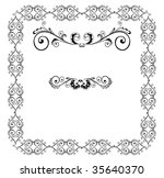 decorative black border | Shutterstock .eps vector #35640370