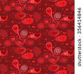 valentines heart. vector... | Shutterstock .eps vector #356414846